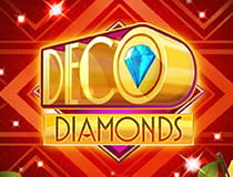 A promotional image for the Deco Diamonds slot at Betway casino.