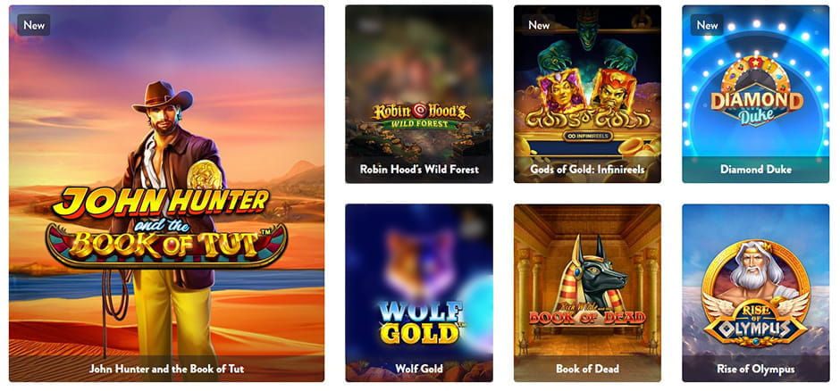 Image showing an example of a welcome bonus at Dunder casino.