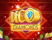 A promotional image for the Deco Diamonds slot at Genesis casino.