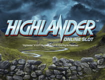 A promotional image for the Highlander slot at Genesis casino.