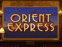 A promotional image for the Orient Express slot at Genesis casino.