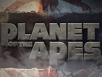 A promotional image for the Planet of the Apes slot at Genesis casino.