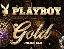 A promotional image for the Playboy Gold slot at Genesis casino.