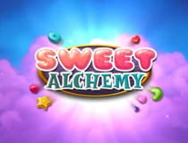 A promotional image for the Sweet Alchemy slot at Genesis casino.