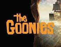 Image of the Goonies slot logo at Dunder Casino.