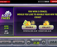 Aces and Faces - double or collect your win