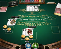 Online Blackjack Pontoon with rules