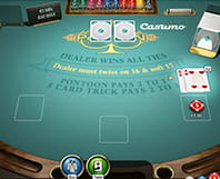 Online Blackjack Pontoon with dealt hands