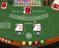 Online Blackjack Switch table with bet
