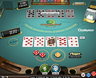 Example of a Caribbean Stud casino poker game