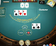 Example of a Hold'em casino poker table