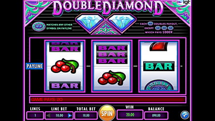 Double Diamond classic slot from IGT