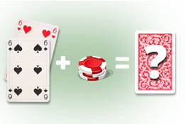image of double down in blackjack