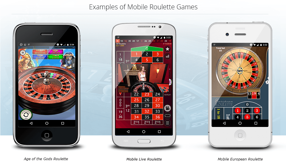Examples of mobile roulette on smartphones