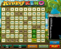 A game of Monkey Keno online