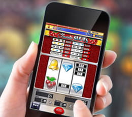 Slot games online - playing on a smartphone