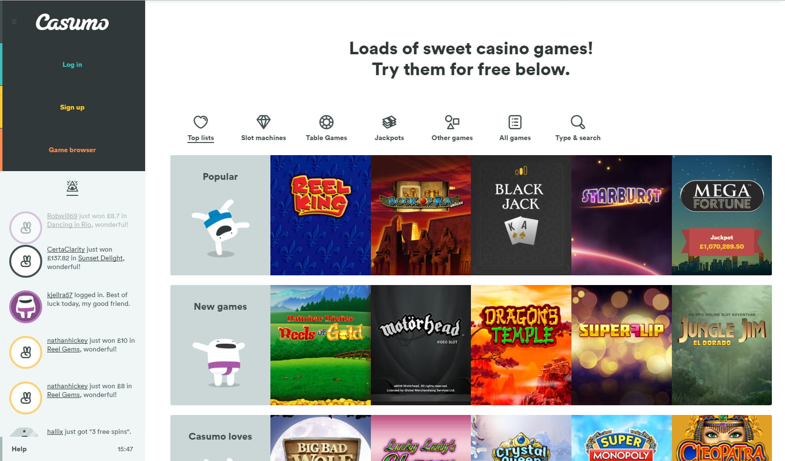 Casumo Review – Play More Than 180 Casino Games