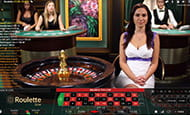 A small image of a live dealer at 32Red.