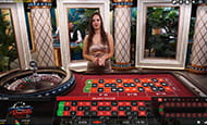 In game screenshot of a live roulette game at Dunder Casino.
