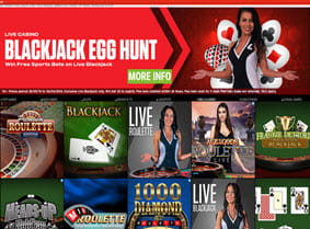 Preview of Ladbrokes Casino homepage