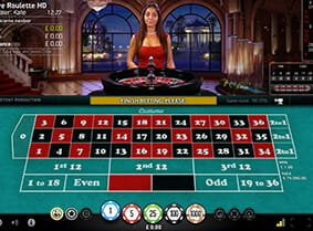 Preview of a live roulette table