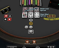 Example of a Three Card casino poker game