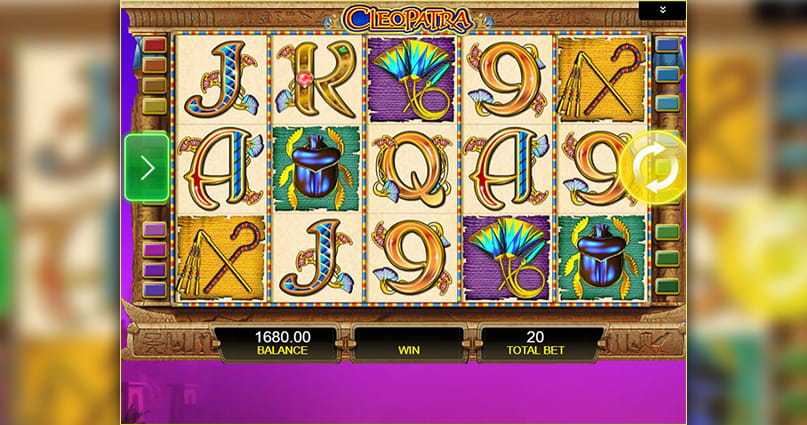 The Cleopatra online slot game.