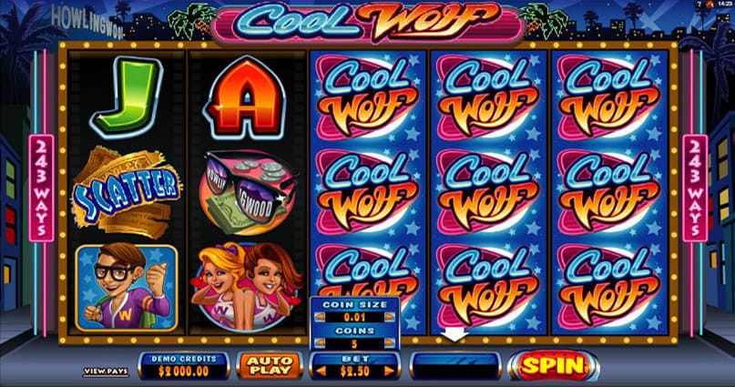 The Cool Wolf online slot game from Microgaming.