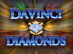 Logo of Da Vinci Diamonds online slot from IGT.