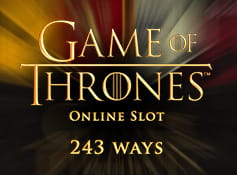 Logo of the Games of Thrones 243 Ways online slot game from Microgaming.