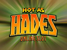 Logo of the online slot Hot as Hades.