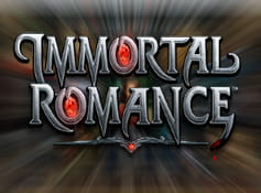 The opening screen of the Immortal Romance online slot from Microgaming.