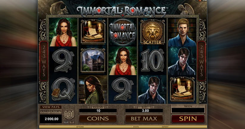 The Immortal Romance online slot from Microgaming.