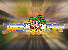 The Jackpot 6000 online slot game logo.