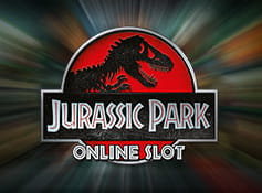 The logo of Jurassic Park slot from Microgaming.