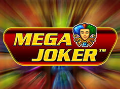 The Mega Joker online slot game logo.