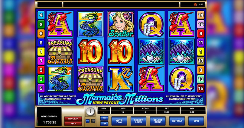 The Mermaids Millions slot game from Microgaming.