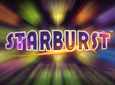 Logo of the NetEnt slot Starburst.