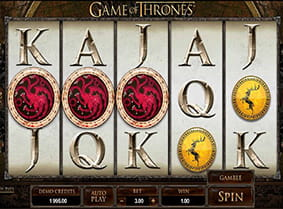 A win in Game of Thrones 243 Ways with two scatter icons.