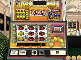 A win during Jackpot 6000, with the option to gamble.
