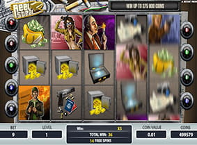 The free spins bonus round in Reel Steal.
