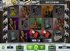 A win with scatters in the Reel Steal online slot.