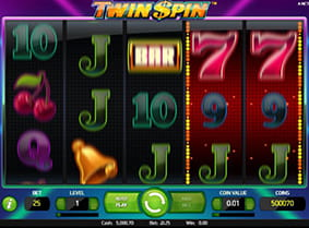 In-game action from the Twin Spin online slot.