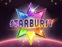 Preview image of the Starburst slot game at Dunder Casino.